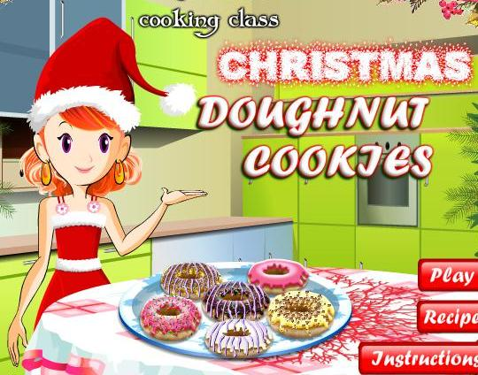 cooking christmas doughnut cookies recipe online